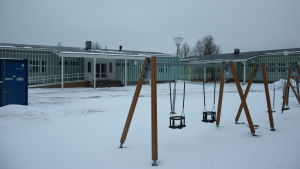 Paviljongen där Minervaskolan ska jobba 2017-2018.