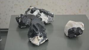 Pargasit, ett mineral som hittats i dagbrottet i Pargas.