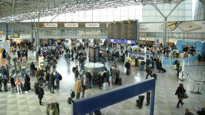 Flygtrejk på Helsingfors-Vanda flygplats den 10 mars 2017.
