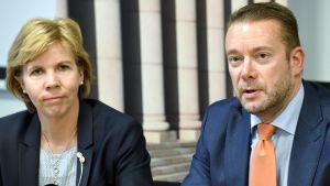 Anna-Maja Henriksson och Stefan Wallin.