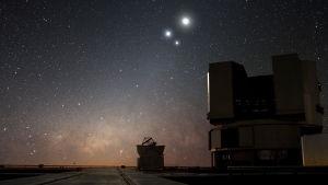 ESO:s teleskop i Paranal, Chile.