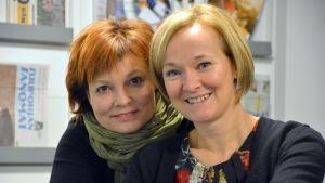 Satu Rönnlöf och Maria Nirkkonen från dansgruppen Makitanza.
