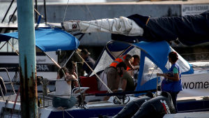 Guatemalansk militär ombord på den holländska abortbåten 23.2.2017