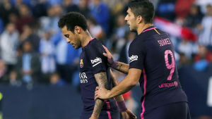Neymar, Luis Suarez.