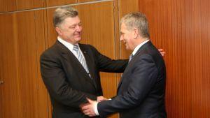 President Sauli Niinistö och Ukrainas president Petro Porosjenko