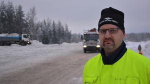 Kim Johan Nuikka på snötippen i Borgå