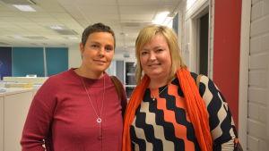 Studiehandledarna Pamela Backholm och Ann-Sofie Nygård