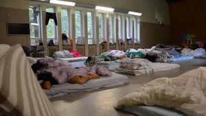 Flyktingförläggningen i Pansio, Åbo.