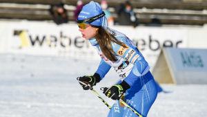 Laura Mononen vid finska cupen i Vanda.