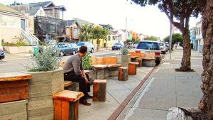 uthyrd parkeringsplats i San Fransisco