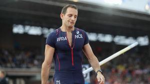 Renaud Lavillenie efter fiaskot i Amsterdam.