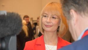 Tytti Tuppurainen vid SDP:s kongress