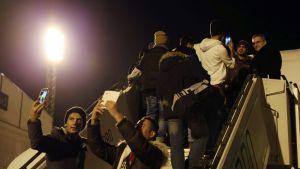 Avvisade irakier flygs hem från Finland.