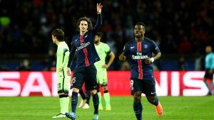 Adrien Rabiot gjorde 2-1 för PSG i Paris.