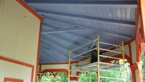 Taket till paviljongen i Kokon.