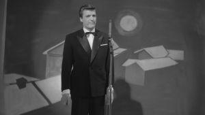 Eurovision laulukilpailu, Suomen loppukilpailu 12.2.1961. Kai Lind laulaa.