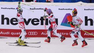 Österrike fick fira efter lagtävlingen.