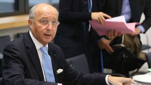 Frankrikes utrikesminister Laurent Fabius i förberedelser inför Parismötet