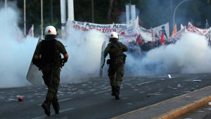 Demonstration i Aten.