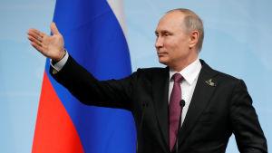 Vladimir Putin vid G20-mötet i Hamburg