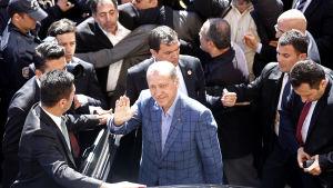 Turkiets premiärminister Recep Tayyip Erdogan under valdagen 30.3.2014