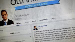 Olli Immonens Facebooksida.