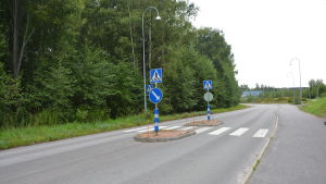 Ny infart till Pentbyvägen i Karis.