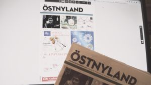 tidningen östnyland i pappers- respektive elektronisk form