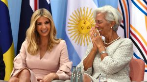 Ivanka Trump och Internationella valutafondens chef Christine Lagarde