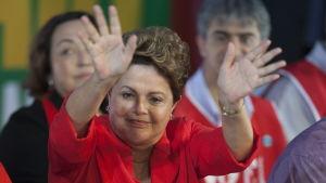 Brasiliens president Dilma Rousseff blev omvald för en ny fyraårsperiod.
