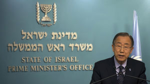 FN:s generalsekreterare Ban Ki-moon i Israel.