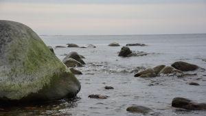 Västra stranden på Örö med utsikt mot sydväst.