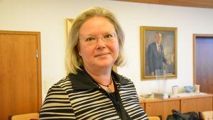 Christina Hovi på stadshuset i Åbo.