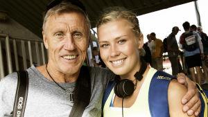 Stolt pappa Börje har stöttat Bianca, här vid junior-FM 2015.