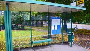 tom busshållplats, inga bussar under strejken