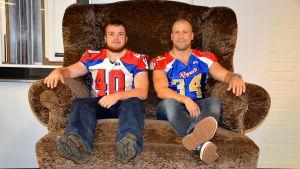 Tom Suoste och Joakim Jakobsson från Wasa Royals.