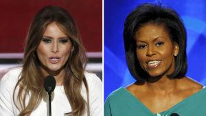 Melania Trump anklagas ha plagierat Michelles Obamas tal.