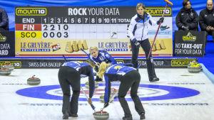 Oona Kauste leder Finlands lag, VM 2015.