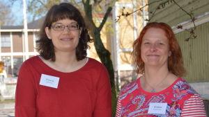Erfarenhetsexperterna Sara Nylund och Pamela Kinnunen.