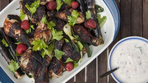 Jordgubbsmarinerad kyckling