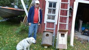 Ralf Wistbacka i Larsmo är beredd att föra ut skrakholkar
