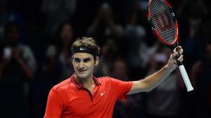 Roger Federer i ATP-slutspelet 2014