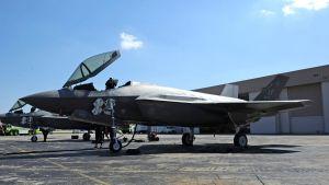 Amerikanska stridsflyg av modellen F35.