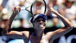 Venus Williams jublar