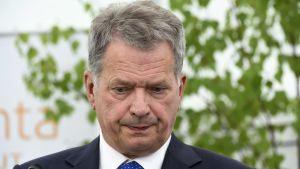 President Sauli Niinistö i Gullranda den 12 juni 2017.