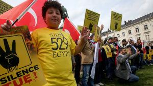 Demonstration i Bryssel mot egyptiska dödsdomar