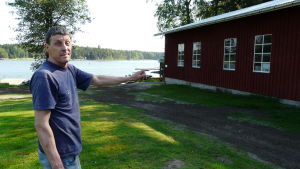 Skutskeppare Svante Johansson på Kitö i Sibbo skärgård