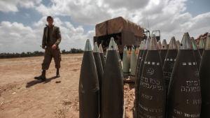 Raketer vid gränsen mellan Israel och Gaza.