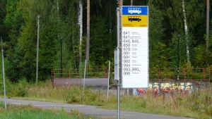 Busshållplats i Sibbo Söderkulla