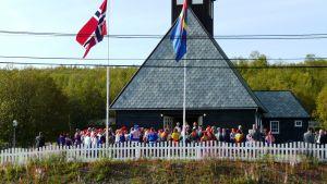 Samebröllop i Máze, by i Kautokeino i nordvästra Norge